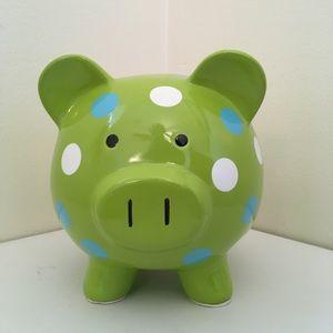 Polka Dotted Piggy Bank